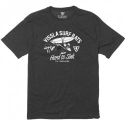 T-SHIRT VISSLA SURF BOYS RAT BLACK HEATHER