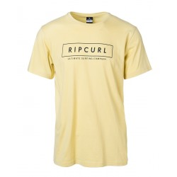 T-SHIRT RIP CURL UNDERTOW LOGO DUSTY YELLOW