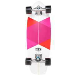 "SKATE CARVER SKATEBOARD TRITON RED DIAMOND 29"" COMPLETE"