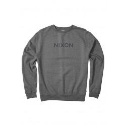 SWEAT NIXON BASICA WORDMARK DARK HEATHER GRAY