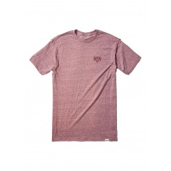 T-SHIRT NIXON FOUNDRY BURGUNDY HEATHER