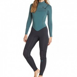 FATO DE SURF BILLABONG FURNACE SYNERGY 4.3MM CHEST ZIP SUGAR PINE