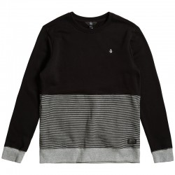 SWEAT VOLCOM THREEZY CREWNECK BLACK