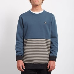 SWEAT VOLCOM THREEZY CREW NAVY GREEN
