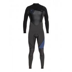FATO DE SURF QUIKSILVER SYNCRO PLUS 4.3MM CZ JET BLACK/CASCADE BLUE