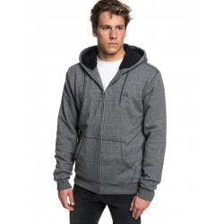 CASACO QUIKSILVER EVERYDAY ZIP-UP SHERPA HOODIE DARK GREY HEATHER