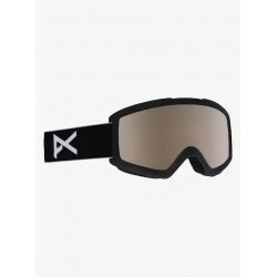 GOGGLES SNOWBOARD ANON HELIX 2.0 BLACK/SILVER AMBER W SPARE LENS