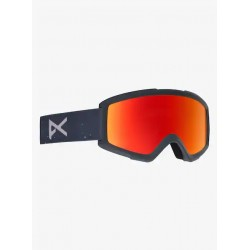 GOGGLES SNOWBOARD ANON HELIX 2.0 RUSH/RED SOLEX AMBER W SPARE LENS