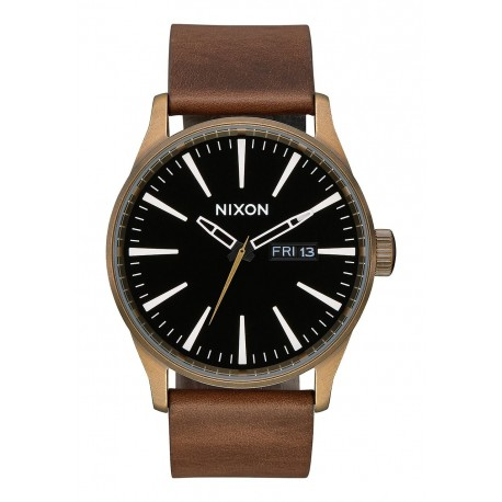 RELÓGIO NIXON SENTRY BRASS/BLACK/BROWN