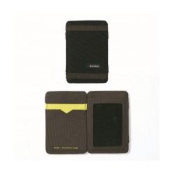 CARTEIRA NIXON ATLAS MAGIC CARD BLACK DARK/OLIVE VOLT
