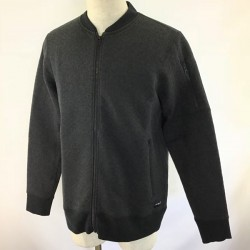 CASACO HURLEY HOLLOWKNIT FLEECE BOMBER BLACK