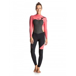 FATO DE SURF ROXY SYNCRO 3.2MM CHEST ZIP FULL WETSUIT PARADISE PINK