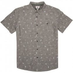 CAMISA VISSLA GADO GADOO BLACK HEATHER