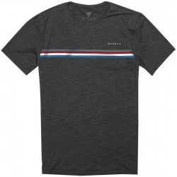 T-SHIRT VISSLA  THE TRIP BLACK HEATHER