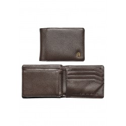 CARTEIRA NIXON PASS VEGAN LEATHER COIN BROWN