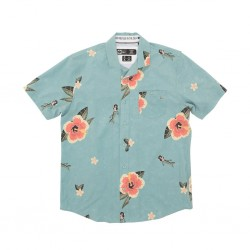 CAMISA SALTY CREW TRADEWINGS TEAL