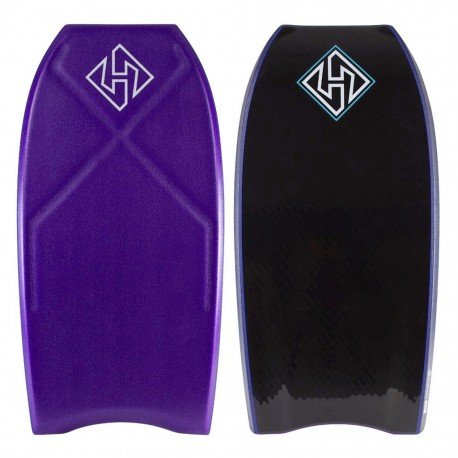 "PRANCHA BODYBOARD HUBBOARDS 41"" HOUSTON PP PRO BLACK/PURPLE"