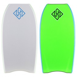 "PRANCHA BODYBOARD HUBBOARDS 41"" HUBB EDITION PP HD ISS WHITE/GREEN"