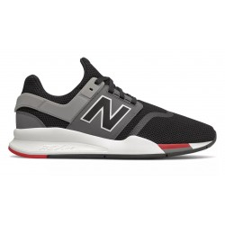 TÉNIS NEW BALANCE 247 SPORT LIFESTYLE BLACK WITH GREY & RED