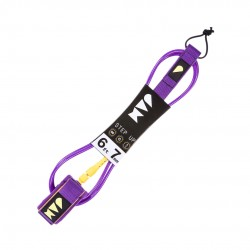 "LEASH JAM STEP UP 6´0"" 7MM PURPLE/YELLOW"