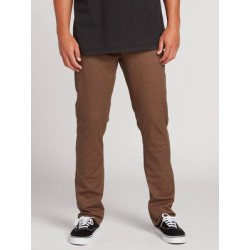 CALÇAS VOLCOM FRICKIN SLIM CHINO MAJOR BROWN