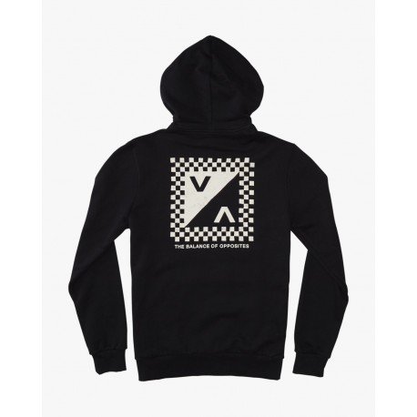 SWEAT RVCA CHECK MATE BLACK