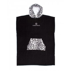 CHANGE PONCHO O&E ANIMAL HOODED BLACK