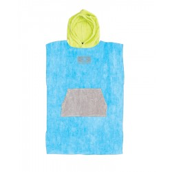 CHANGE PONCHO O&E KIDS HOODED BLUE