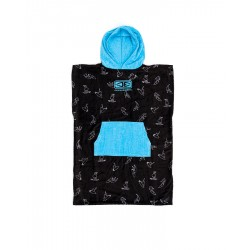 CHANGE PONCHO O&E KIDS HOODED BLUE PRINT