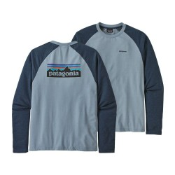 SWEAT PATAGONIA P-6 LOGO LIGHTWEIGHT CREW STONE BLUE