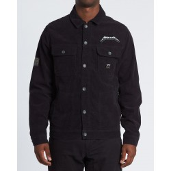 BLUSÃO BILLABONG AI METALLICA WASHED BLACK