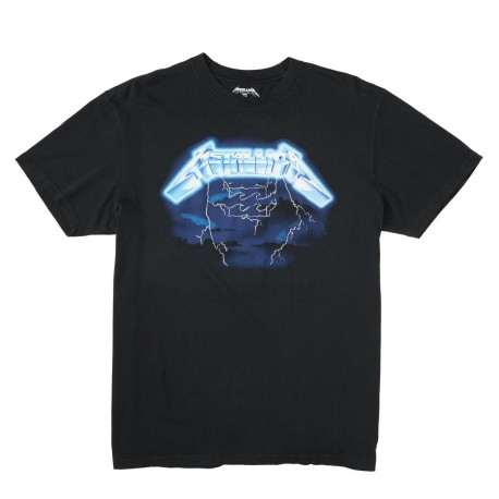 T-SHIRT BILLABONG RIDE THE LIGHTNING METALLICA BLACK