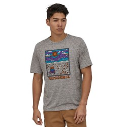 T-SHIRT PATAGONIA CAP COOL DAILY GRAPHIC SUMMIT ROAD FEATHER GREY