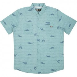 CAMISA SALTY CREW HORIZON UV DUSTY BLUE