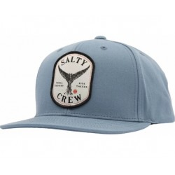 BONÉ SALTY CREW FISHSTONE 5 PANEL CHARCOAL