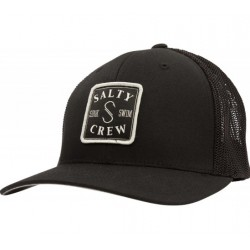 BONÉ SALTY CREW S-HOOK RETRO TRUCKER BLACK