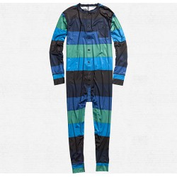 LIGHTWEIGHT UNION SUIT ROYALS POP STRIPE BURTON