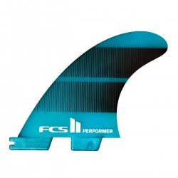 QUILHAS FCS II PERFORMER NEO GLASS X-SMALL TRI FIN TEAL GRADIENT