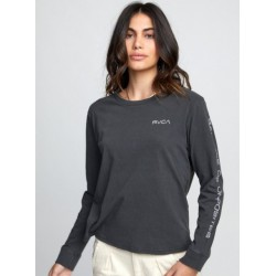 LONG SLEEVE RVCA CHAINED WASHED BLACK