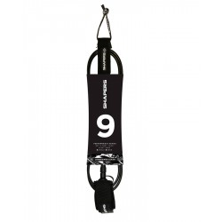 "LEASH SHAPERS 9"" LONGBOARD BLACK"