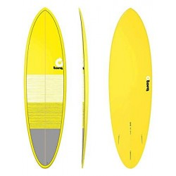 "PRANCHA DE SURF TORQ 6´8"" FUNBOARD LINES YELLOW/GRAY"