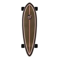 "SKATE SANTA CRUZ 33"" GOLD STRIPE PINTAIL COMPLETE MULTI"