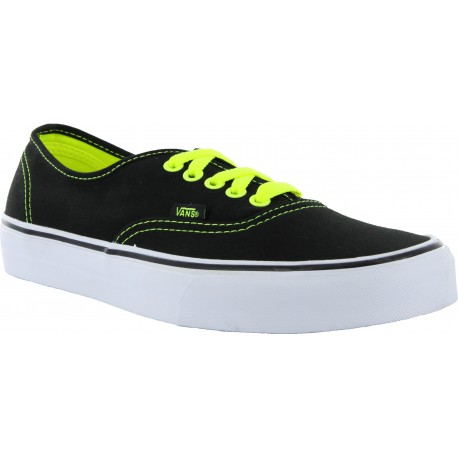 AUTHENTIC BLACK NEON YELLOW VANS