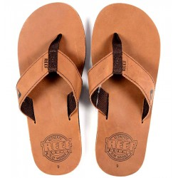 CHINELOS REEF LEATHER SMOOTHY BRONZE BROWN 30TH ANNIVERSARY - PIPELINE SURF SHOP