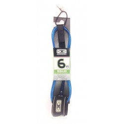 "LEASH O&E REGULAR 6'0"" MOULDED BLUE"
