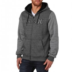 HURLEY GETAWAY SHERPA FLEECE ZIP HOODY 2.0 BLACK