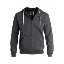 QUIKSILVER EPIC OUTBACK SHERPA ZIP UP HOODIE DARK GREY HEATHER