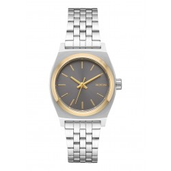 RELOGIO NIXON SMALL TIME TELLER SILVER GOLD GRAY