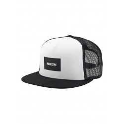 BONÉ NIXON TEAM TRUCKER BLACK WHITE