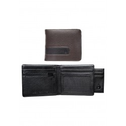 CARTEIRA NIXON SHOWTIME BI-FOLD ID ZIP BROWN